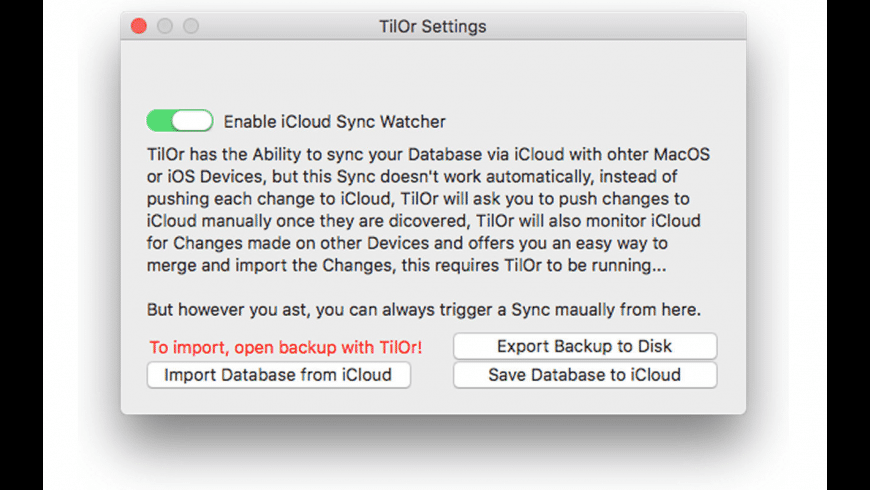 TilOr Desk for Mac - review, screenshots