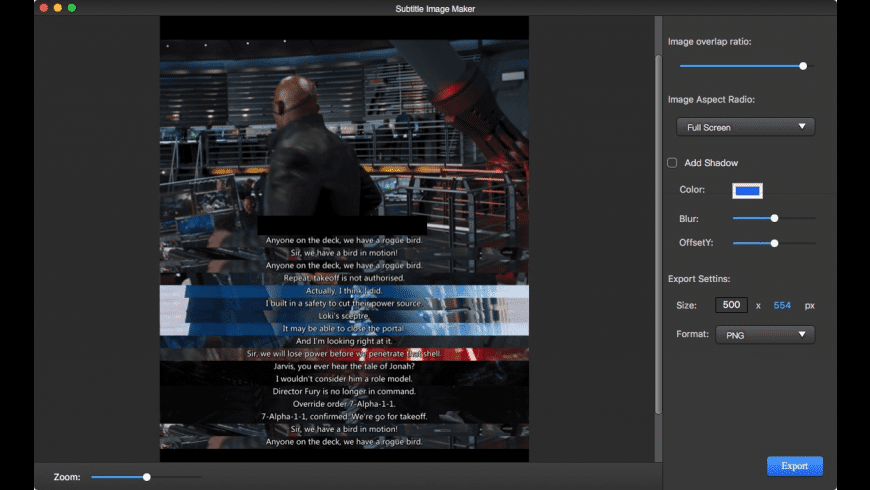 AMS Subtitle Image Maker for Mac - review, screenshots