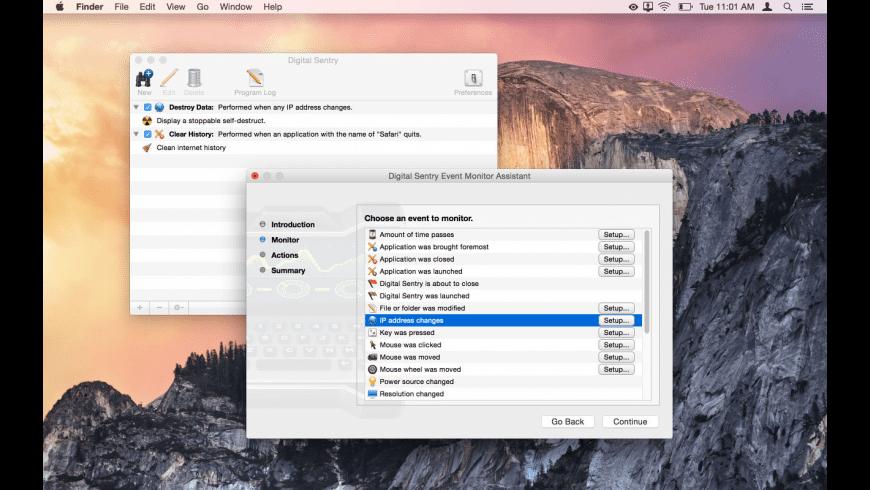 Digital Sentry for Mac - review, screenshots