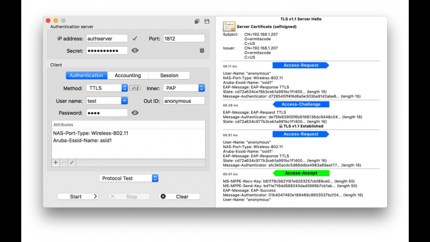 EAPTest for Mac - review, screenshots