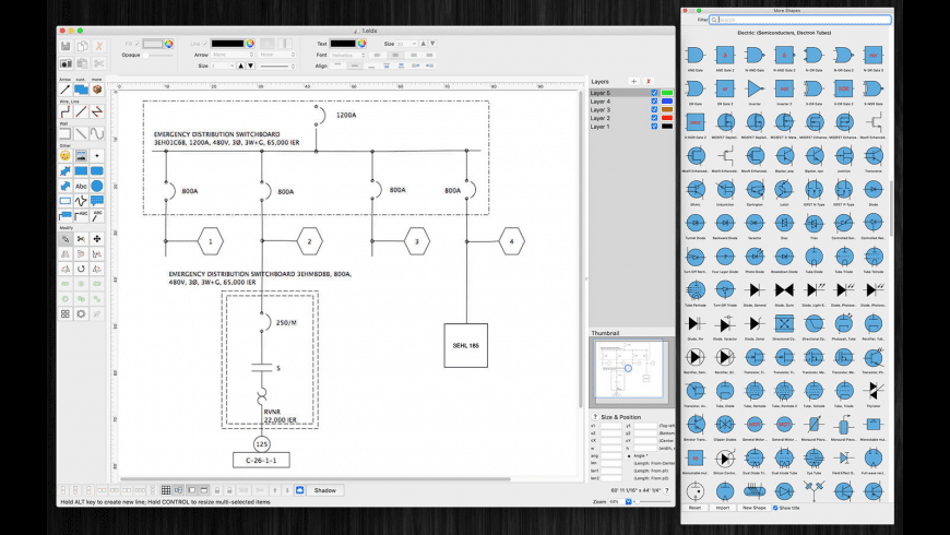 ElectricDesign for Mac - review, screenshots