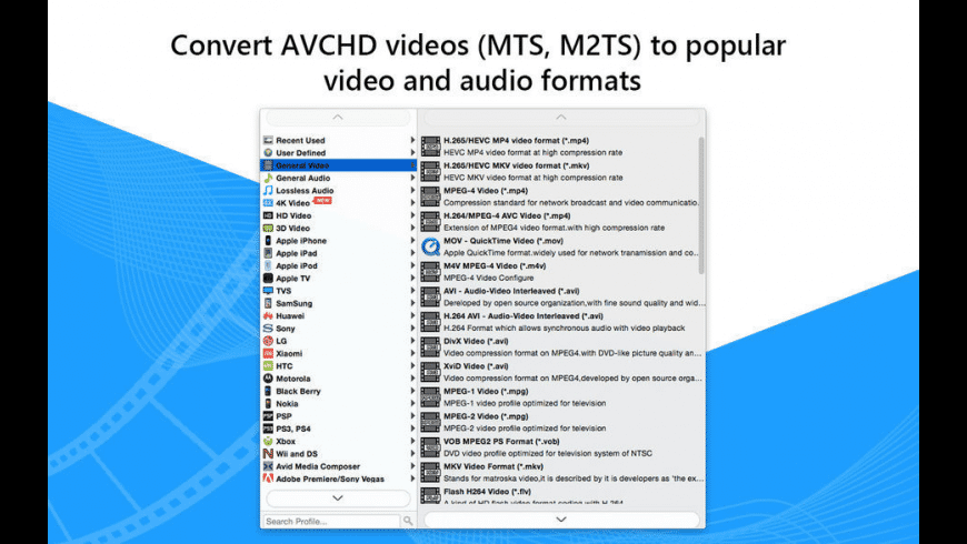 Any AVCHD Converter-MP4/AVI for Mac - review, screenshots
