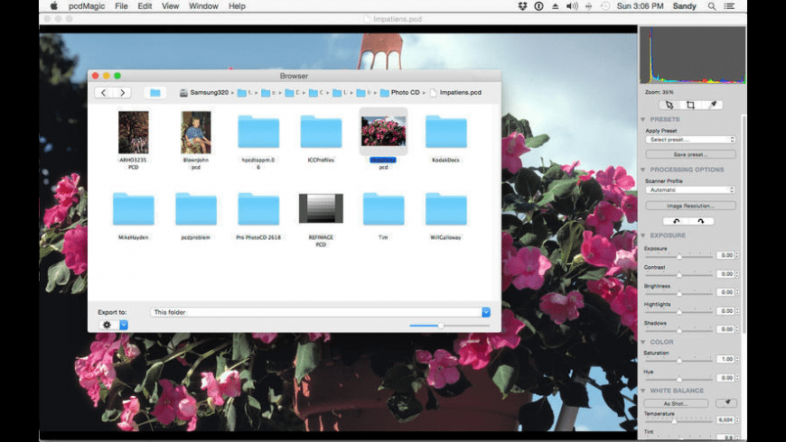 pcdMagic for Mac - review, screenshots