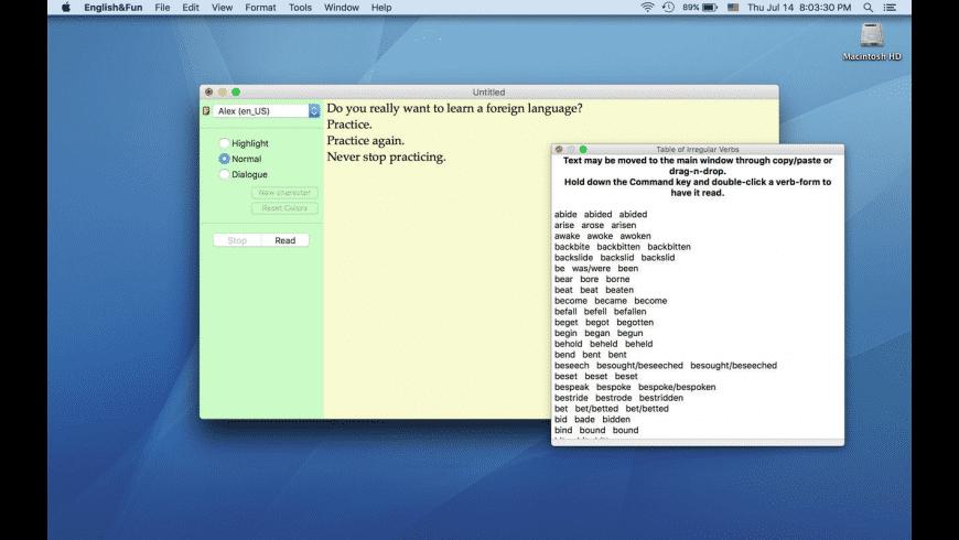 English&Fun for Mac - review, screenshots