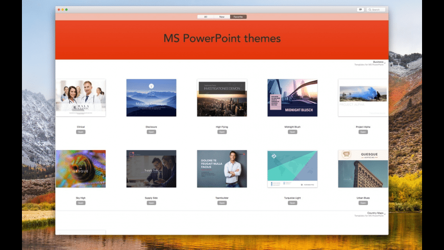 Themes for MS PowerPoint for Mac - review, screenshots