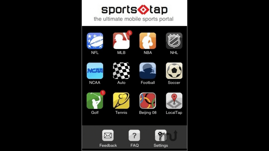 SportsTap for Mac - review, screenshots