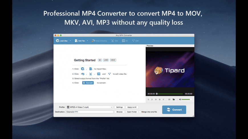 Any MP4 Converter for Mac - review, screenshots
