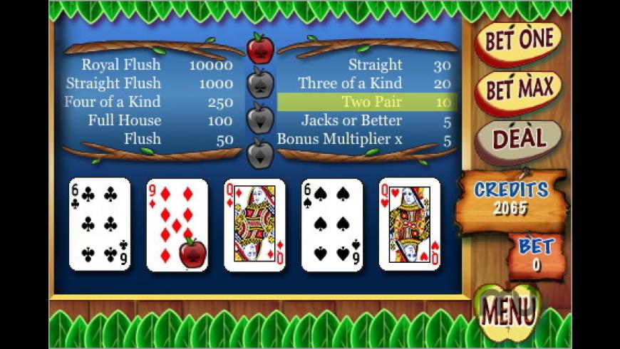Fat-Free Video Poker for Mac - review, screenshots