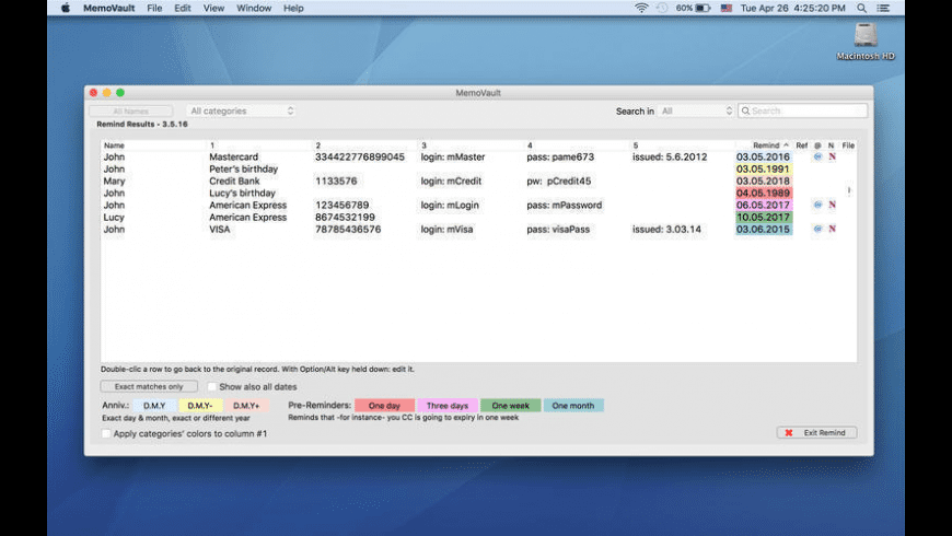 MemoVault for Mac - review, screenshots