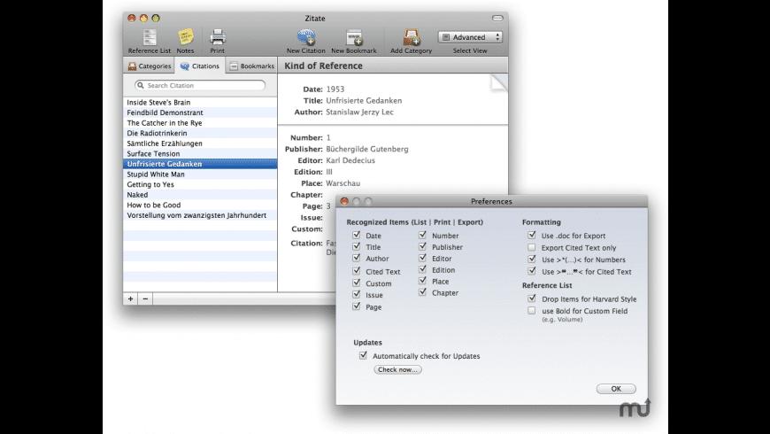 Zitate for Mac - review, screenshots