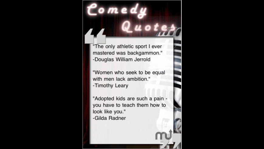 Comedy Quotes for Mac - review, screenshots
