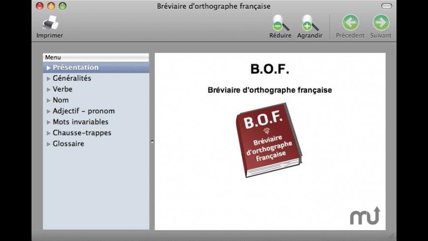 Bréviaire d'orthographe Française for Mac - review, screenshots