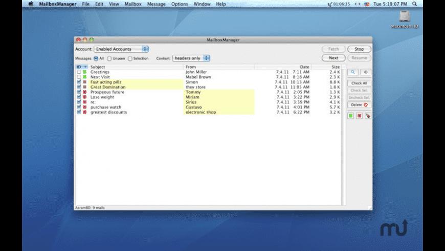 MailboxManager for Mac - review, screenshots
