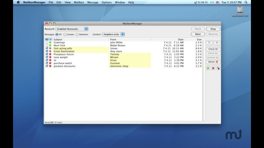 MailboxManager for Mac - review, screenshots