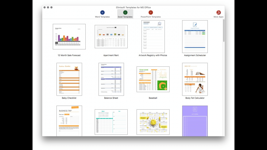 Elimisoft Templates for MS Office for Mac - review, screenshots