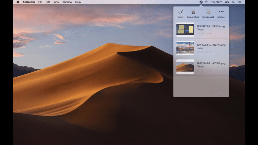 AirSketch for Mac - review, screenshots