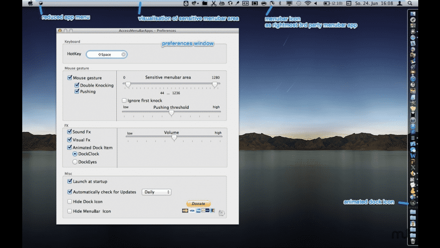 AccessMenuBarApps for Mac - review, screenshots