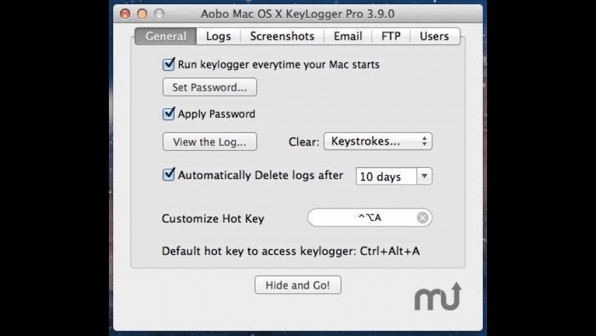 Aobo Keylogger Professional for Mac - review, screenshots