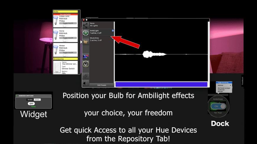 AmbiDesk for Hue for Mac - review, screenshots