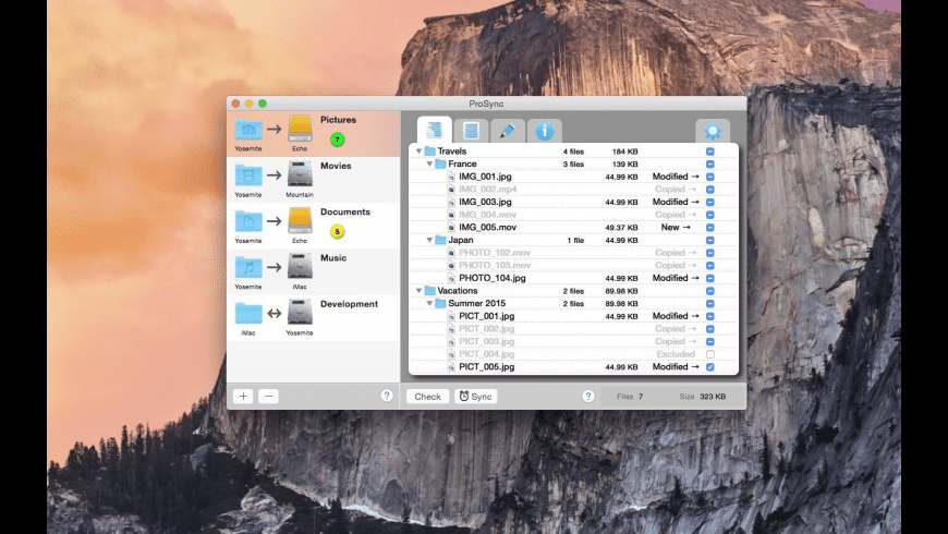 ProSync for Mac - review, screenshots