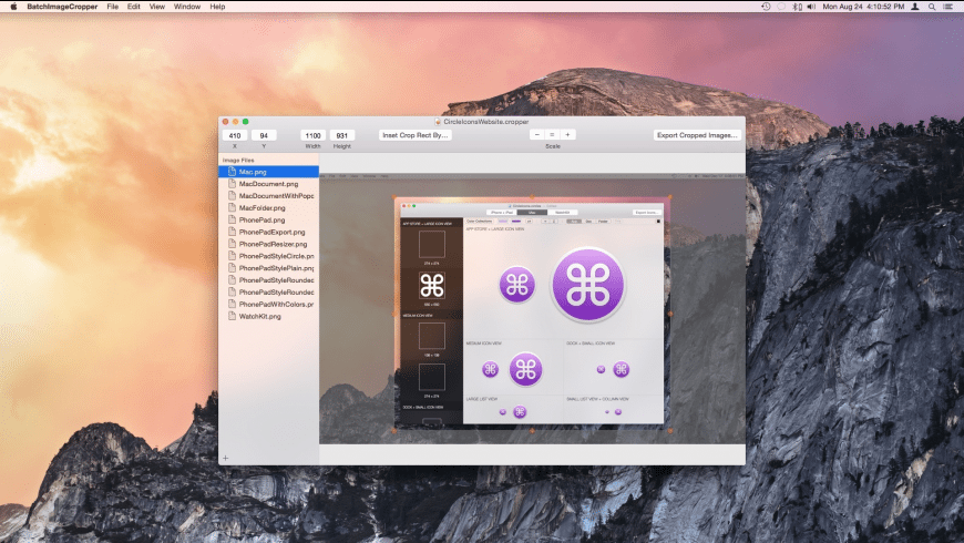 BatchImageCropper for Mac - review, screenshots