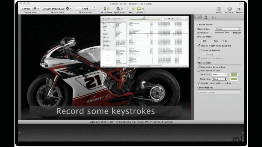 iShowU HD Pro for Mac - review, screenshots