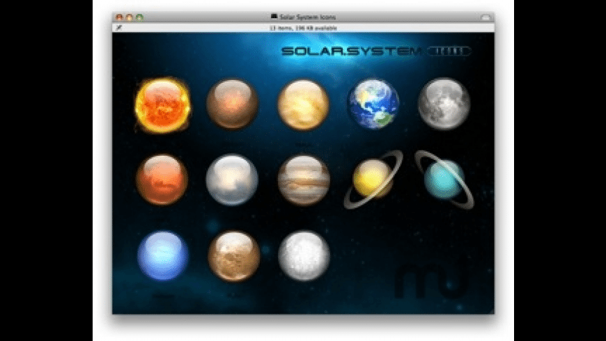 Solar System Icons for Mac - review, screenshots