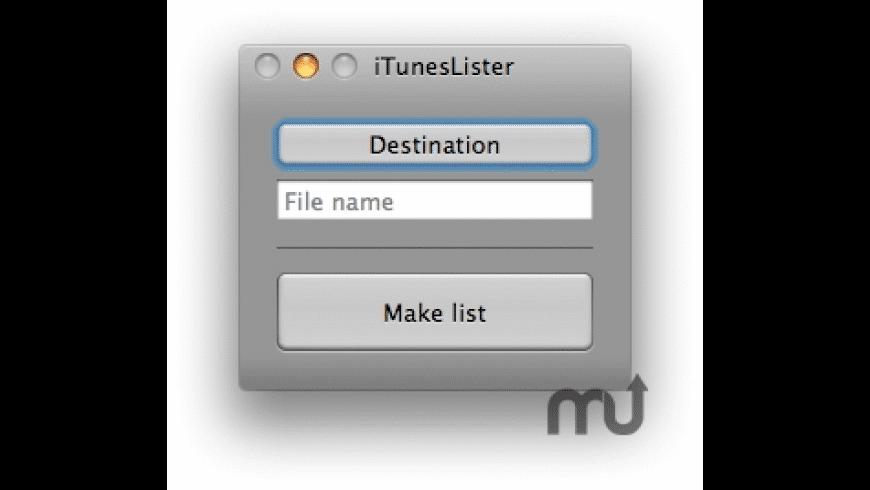 iTunesLister for Mac - review, screenshots