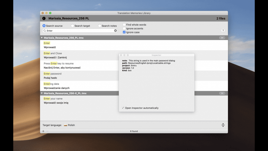 TMX Assistant for Mac - review, screenshots