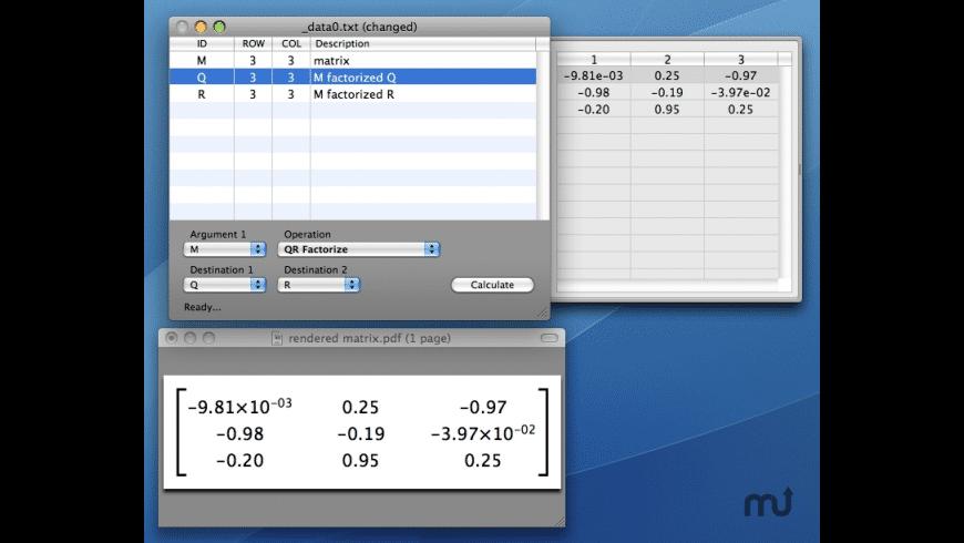 Matrix Calculator for Mac - review, screenshots