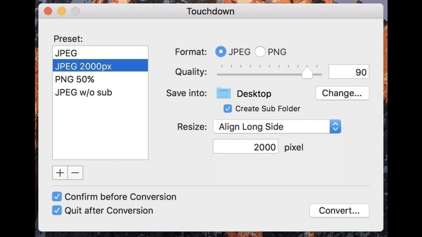 Touchdown for Mac - review, screenshots