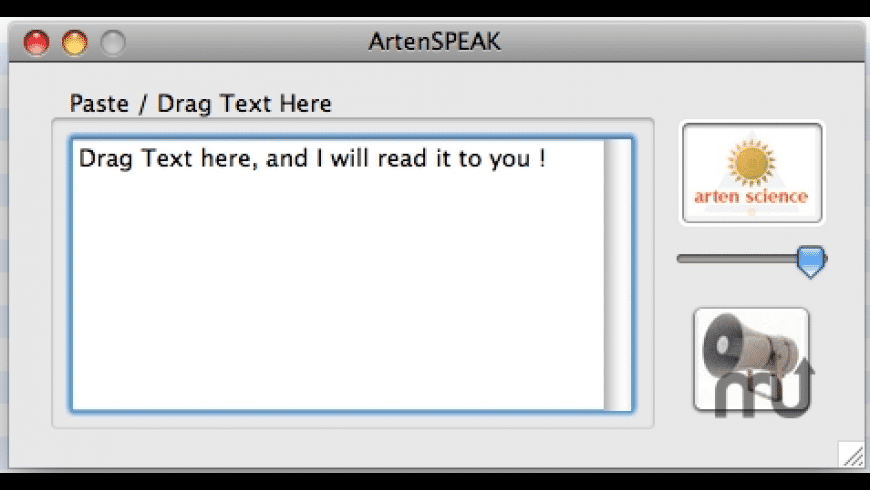 ArtenSPEAK for Mac - review, screenshots