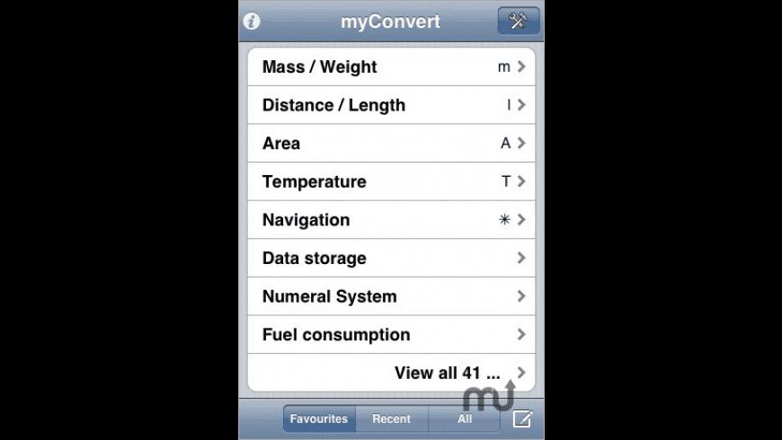 myConvert for Mac - review, screenshots