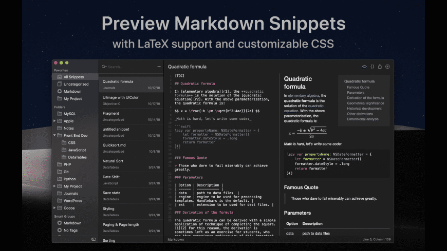 SnippetsLab for Mac - review, screenshots