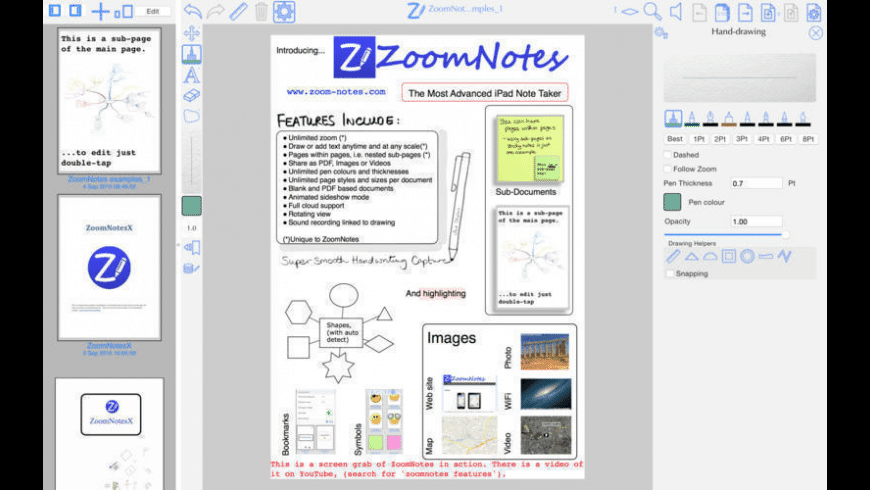 ZoomNotes Desktop for Mac - review, screenshots