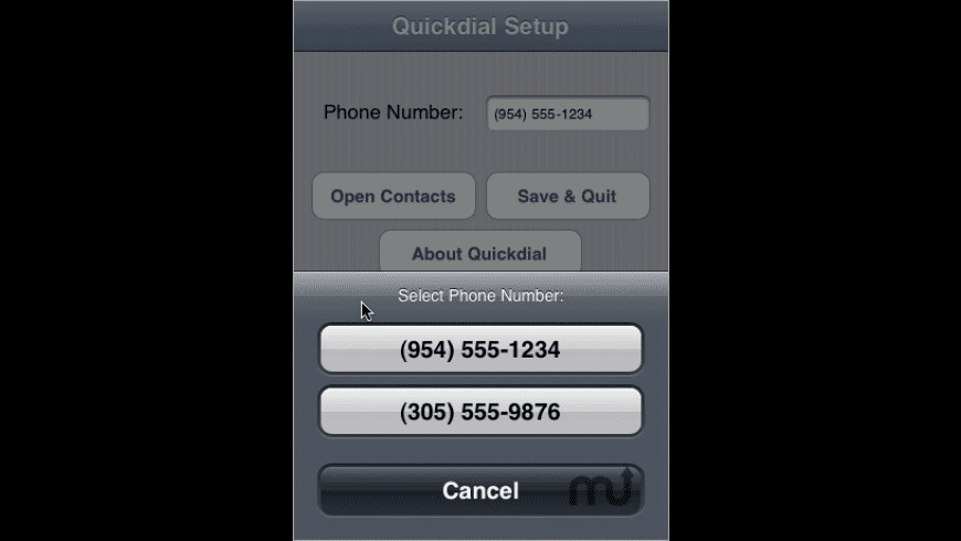 Quickdial for Mac - review, screenshots