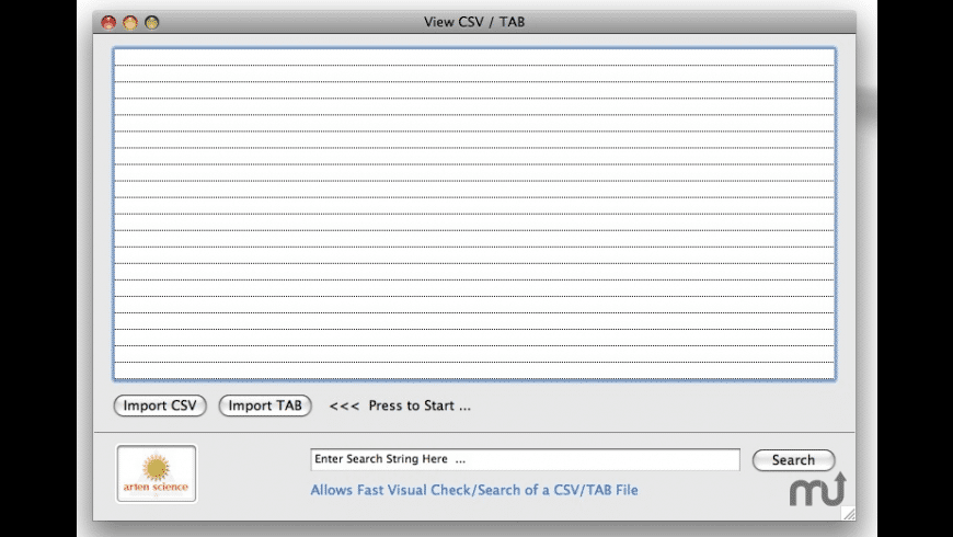 ViewCSVTAB for Mac - review, screenshots