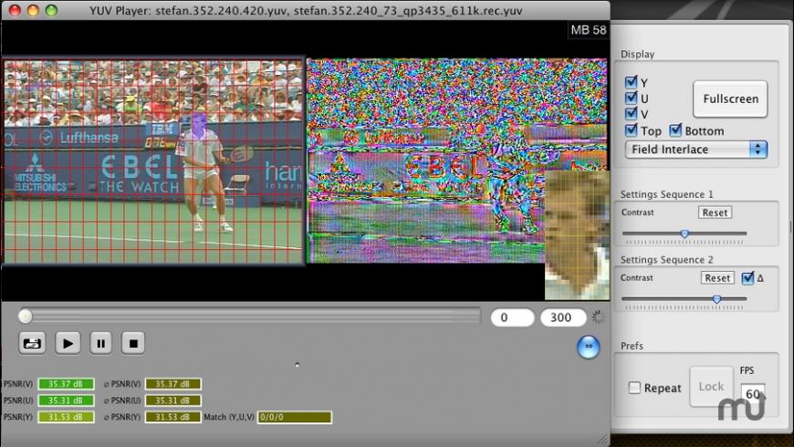 GLYUVPlay for Mac - review, screenshots