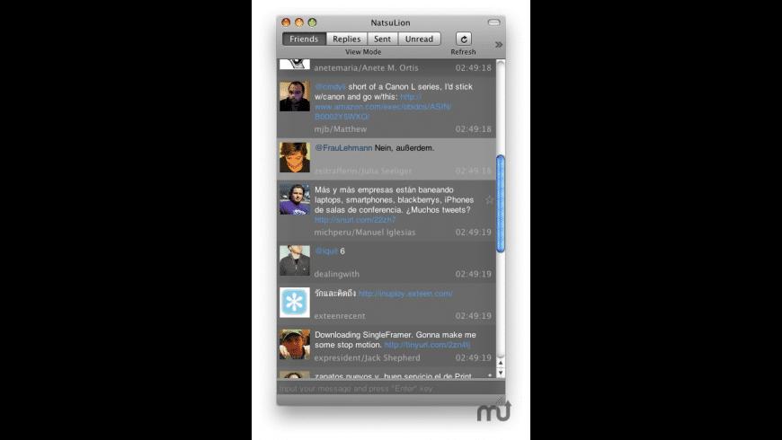 NatsuLion for Mac - review, screenshots