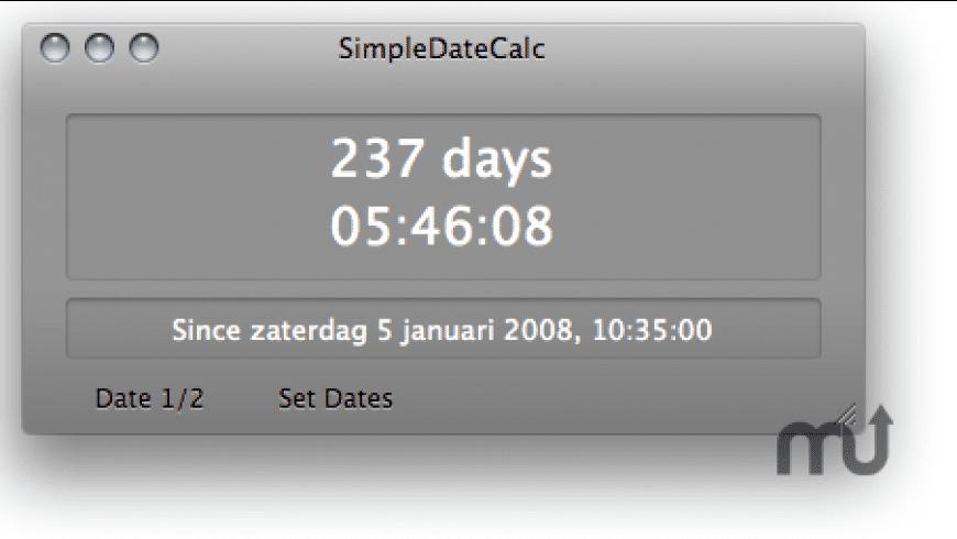 SimpleDateCalc for Mac - review, screenshots
