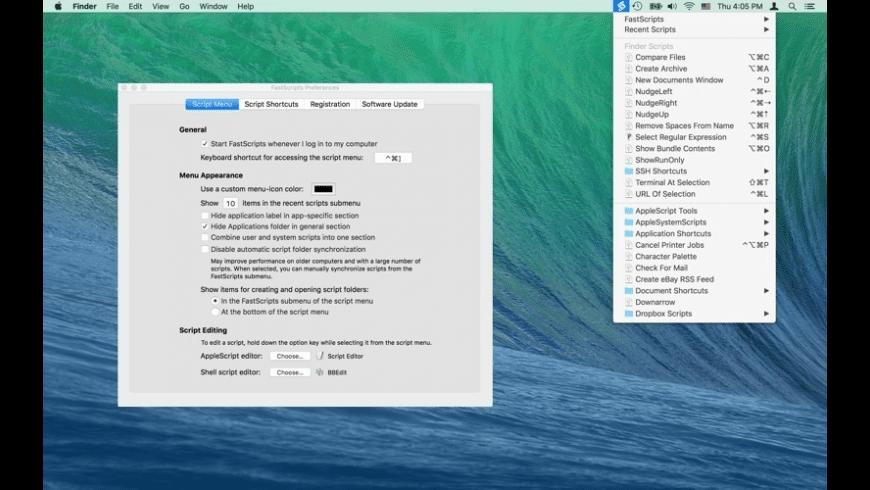FastScripts for Mac - review, screenshots