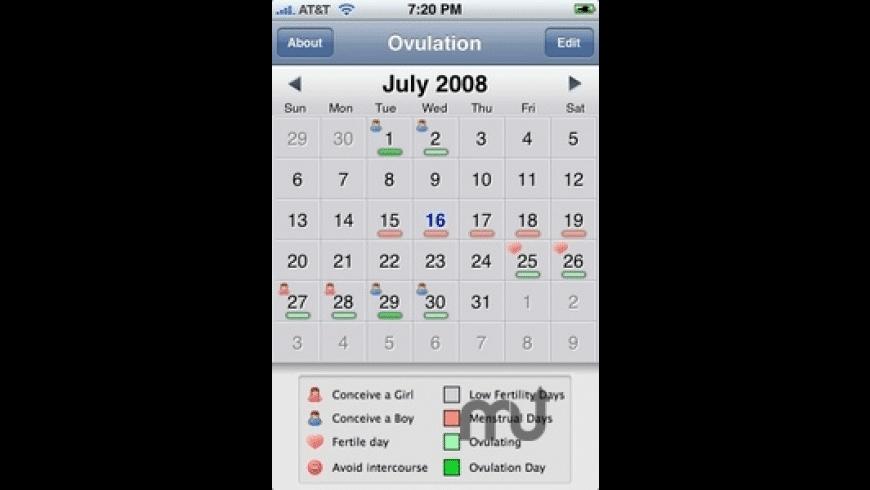 Ovulation Calendar for Mac - review, screenshots