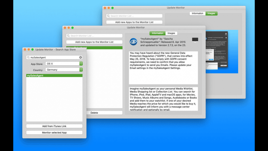 Update Monitor for Mac - review, screenshots