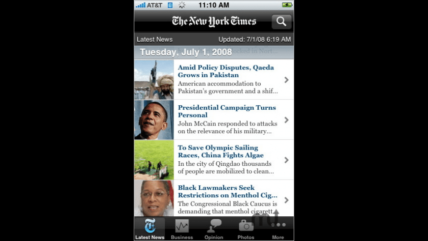 NYTimes for Mac - review, screenshots
