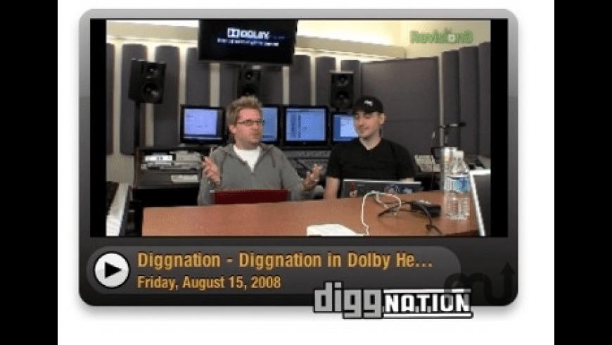 Diggnation Video Widget for Mac - review, screenshots