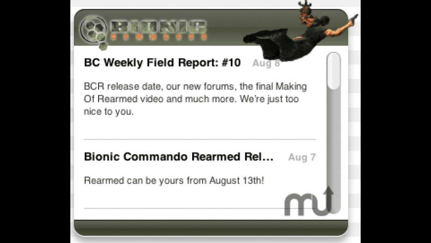 Bionic Commando Widget for Mac - review, screenshots
