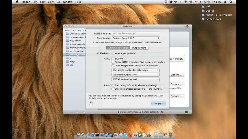 LiveReload for Mac - review, screenshots
