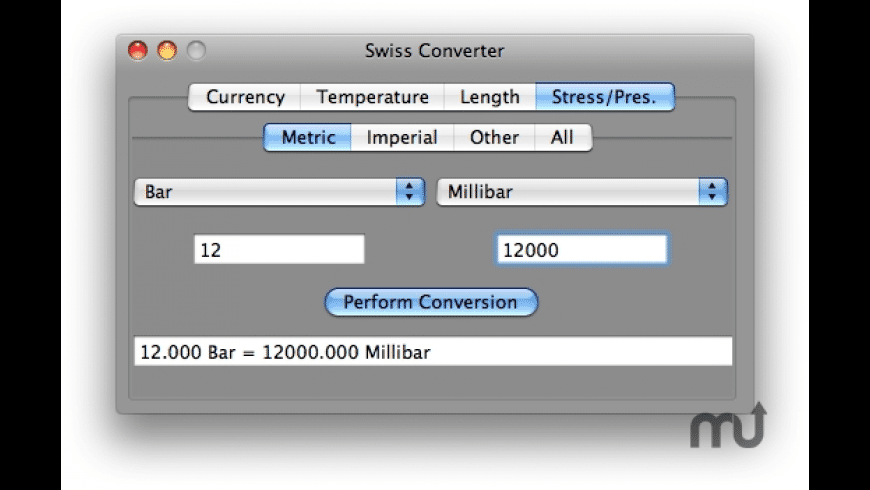 Swiss Converter for Mac - review, screenshots