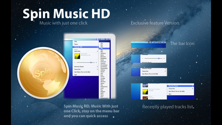 Spin Music HD for Mac - review, screenshots
