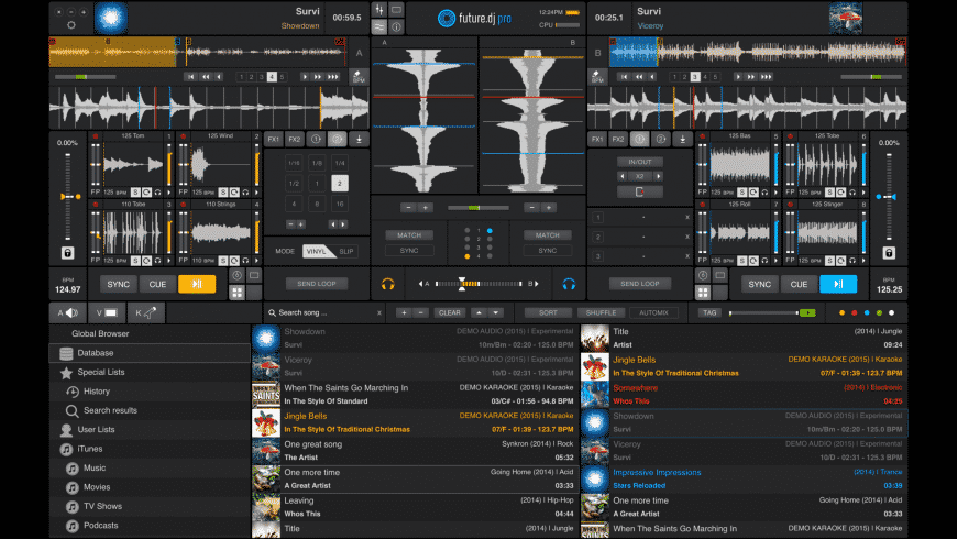 future.dj pro for Mac - review, screenshots
